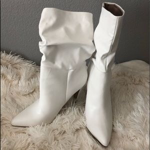 Charlotte Russe White Mid Calf Bootie